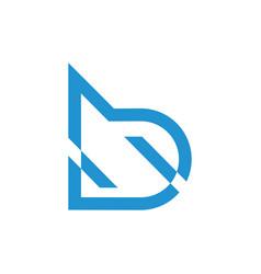 Letter b motion lines logo vector