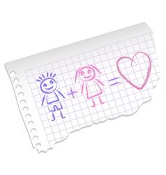 mash note vector image