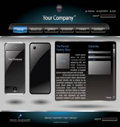 mobile phone editable website template vector image