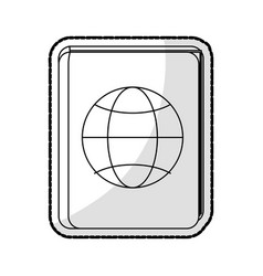 Passport travel icon image vector