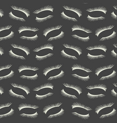 pattern with a lashes on dark gray background vector image