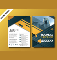 professional business brochure background template vector image