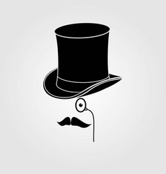 retro vintage gentleman icon vector image
