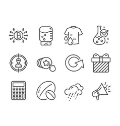 Set business icons such as wash t-shirt vector