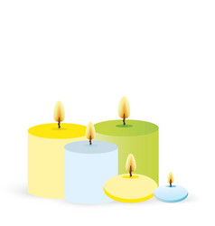 set of aroma candles for web and print glue vector image