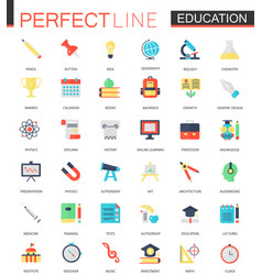Set of flat education icons vector