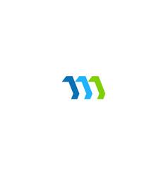 shape 3d design logo vector image