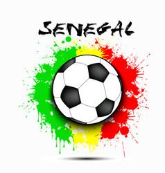 soccer ball and senegal flag vector image
