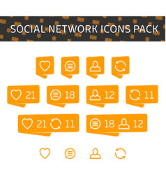social network icons pack vector image