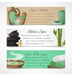 Spa banners horizontal vector image