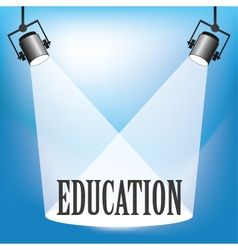 Spotlight Education vector image