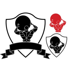 Strongmen vector image