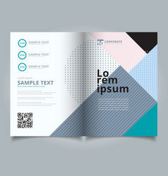 template layout brochure geometric pattern trendy vector image