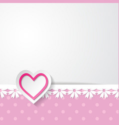 template of the greeting card vector image