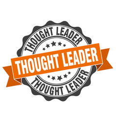 Thought leader stamp sign seal vector