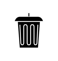 trash - office bin icon vector image