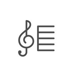 treble clef line icon vector image
