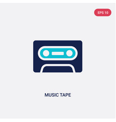 Two color music tape icon from entertainment vector