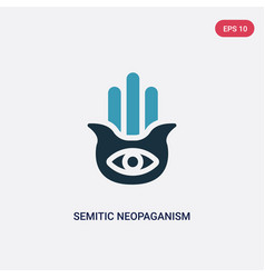 Two color semitic neopaganism icon from religion vector