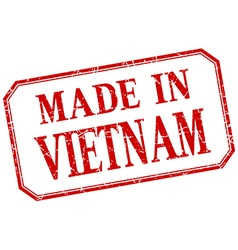 Vietnam - made in red vintage isolated label vector image