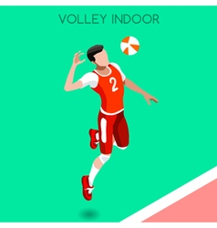 Volleyball 2016 Summer Games Isometric 3D vector