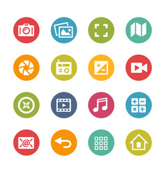 Web and mobile icons 5 - fresh colors series vector