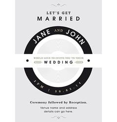 Wedding invitation black and grey theme vector