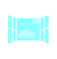 window with clouds sky isolated icon vector image