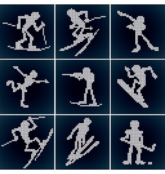 winter sport icons vector image
