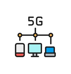 wireless 5g internet distribution flat vector image