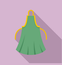 Woman apron icon flat style vector