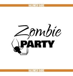 Zombie party spider badge vector