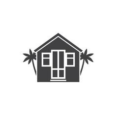 beach bungalow logotype vector image vector image