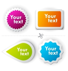 Colorful sticker for text vector
