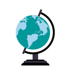 earth map icon image vector image vector image