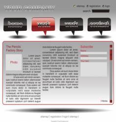 info website template vector image vector image
