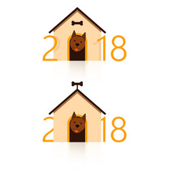 2018 happy new year greeting card celebration vector image vector image
