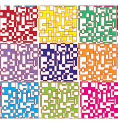 Colorful figures abstract digital background vector