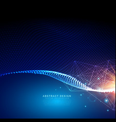 digital futuristic background made with particles vector image vector image