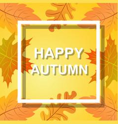 happy autumn vector image