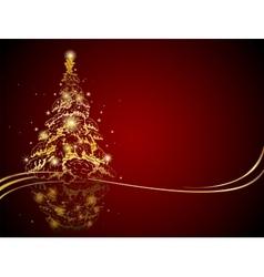 Modern golden Christmas tree vector image vector image