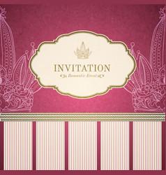 Retro princess invitation template vector image