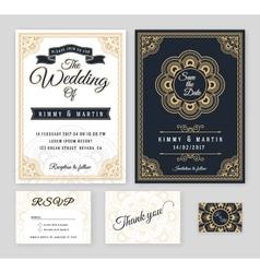 Vintage wedding invitation Mehndi mandala design vector image