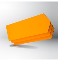 3D orange arrow boards vector image vector image