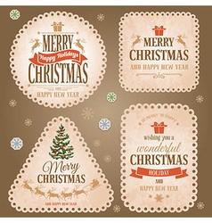 Christmas retro labels vector