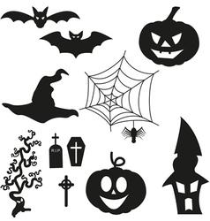 Halloween silhouetten - set vector