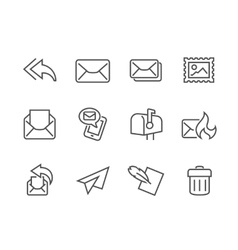 Outline Mail Icons vector image vector image