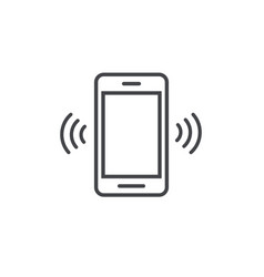 smartphone or mobile phone ringing icon vector image