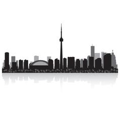 Toronto Canada city skyline silhouette vector image
