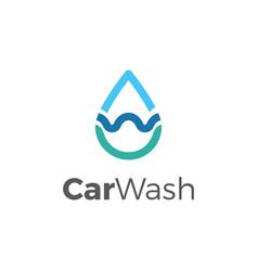 car wash logo template vector image vector image